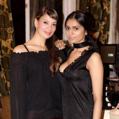 Anna-Christina and Roopa Bhudia at COYA Mayfair fashion event