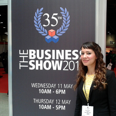 Anna-Christina at The Business Show at ExCel London 2016