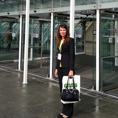 Anna-Christina at The Business Show at ExCel London