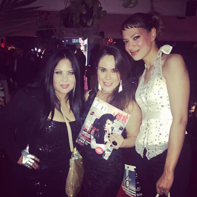 Anna-Christina with Rebeca Riofrio and Betty Fernanda Encinales Ortiz at FAB UK Magazine's 1st Anniversary party in London