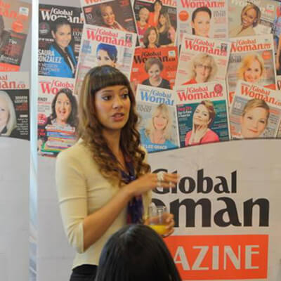 Anna-Christina Speaking at The Global Woman's Magazine Exclusive Networking Breakfast