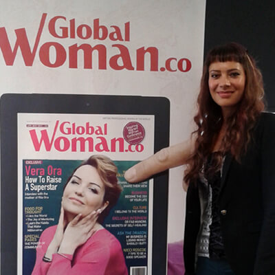 Anna-Christina at The Global Woman's Magazine Exclusive Networking Breakfast