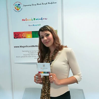Anna-Christina at the Mindful Living Show at the Business Design Centre in London