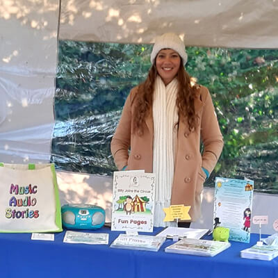 Anna-Christina at the Baby and Children's Market London
