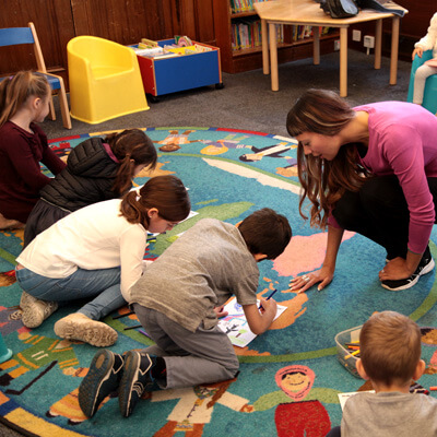 Storytime with Anna-Christina at the library