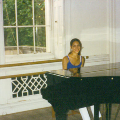 Anna-Christina - Early piano days at school image